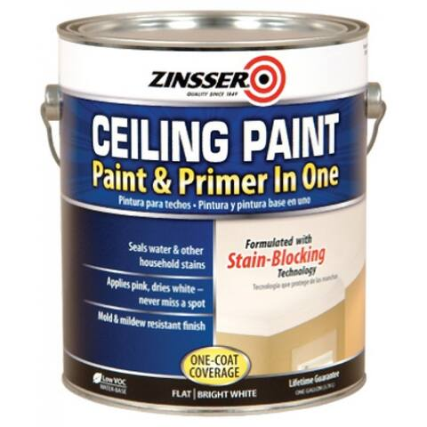 Zinsser 260967 Water Base Ceiling Paint & Primer In 1, 1-Gallon