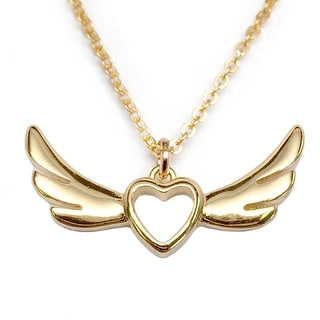 "Julieta Jewelry Wings Of Love Gold Charm 16"" Necklace"