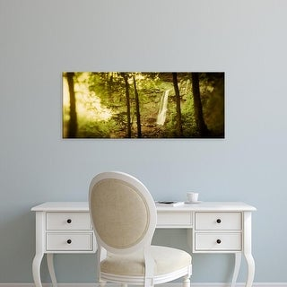 Easy Art Prints Panoramic Images's 'Waterfall, Kaaterskill Falls, Catskill Mountains, Hunter, Greene County' Canvas Art