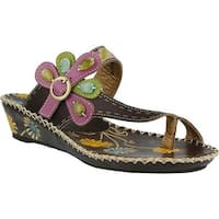 L'Artiste by Spring Step Women's Santorini Brown Leather