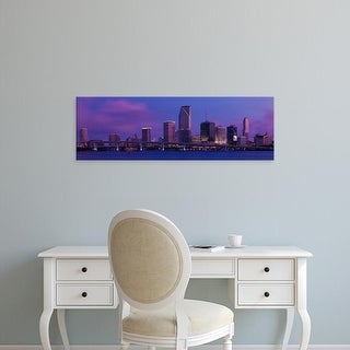 Easy Art Prints Panoramic Images's 'Buildings At The Waterfront, Miami, Florida, USA' Premium Canvas Art