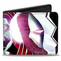 Marvel Universe Spider Gwen #3 Crouching & #5 Face To Face Cover Poses Bi Bi-Fold Wallet - One Size Fits most