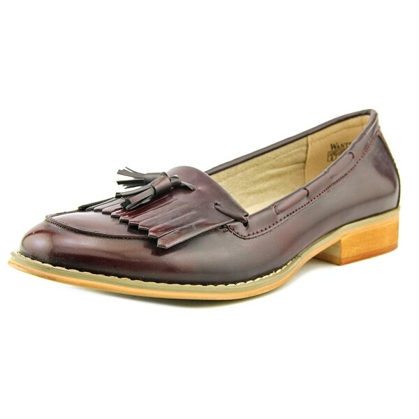 Wanted Charlie Women Round Toe Synthetic Burgundy Loafer