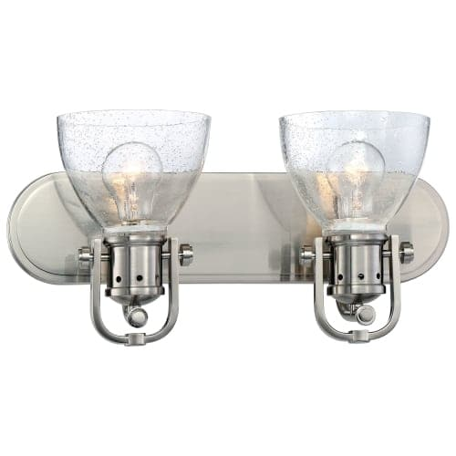 Minka Lavery 3412-84 2 Light Vanity Light from the Seeded Bath Art Collection