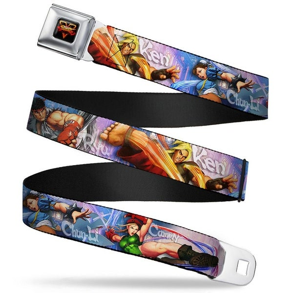Street Fighter V Full Color Black Yellow Red Fade Street Fighter V 4 Seatbelt Belt