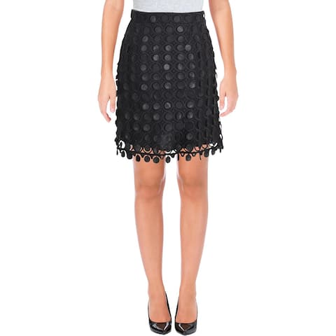 Carven Womens Jupe Courte Mini Skirt Embroidered Night Out