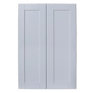 "Sunny Wood SHW2742-A Shaker Hill 27"" x 42"" Double Door Wall Cabinet - designer white - N/A"