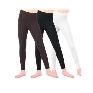 Lori & Jane Girls Black White Brown 3 Pc Leggings