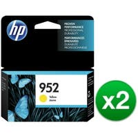 HP 952 High Yield Yellow Original Ink Cartridge (L0S55AN)(2-Pack)