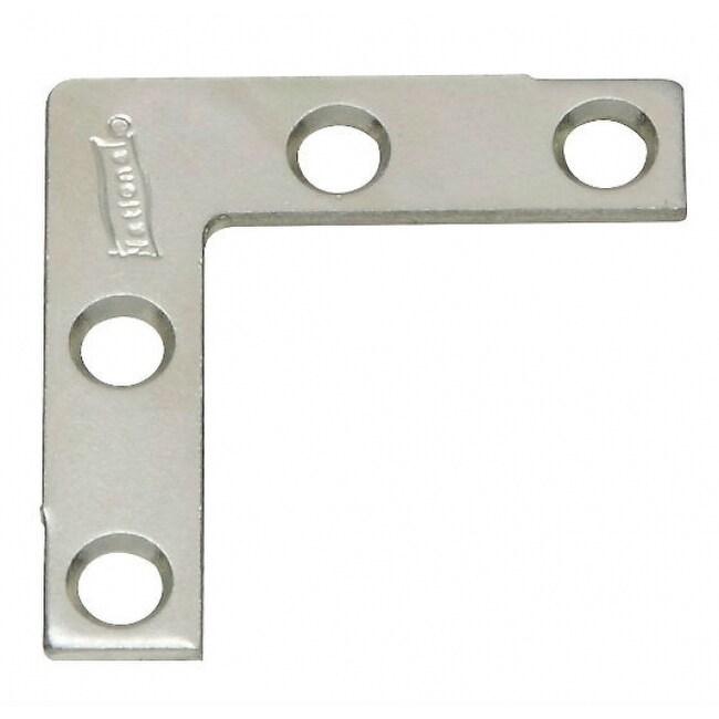 National Hardware N113-795 Flat Corner Iron, 1.5x3/8, Zinc 4-Pack