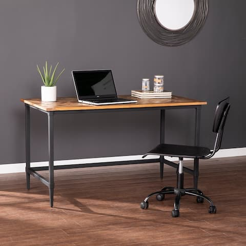Strick & Bolton Lawrence Modern Farmhouse Reclaimed Wood Desk