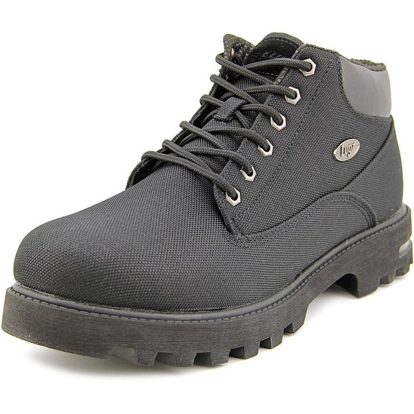 Lugz Empire Ballistic Men Round Toe Canvas Black Boot