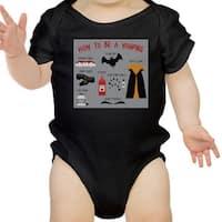Vampire Steps Halloween Baby Bodysuit Black Cute Baby Boy Bodysuit
