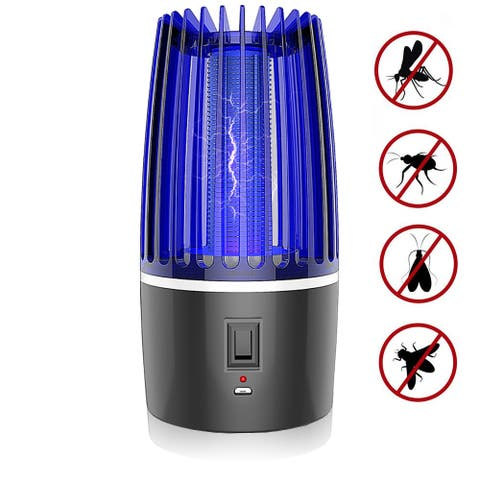 Modern Home USB Bug Zapper - Electric Flying Insect/Mosquito Killer - Insect Trap with Electric UV Lamp for Indoors