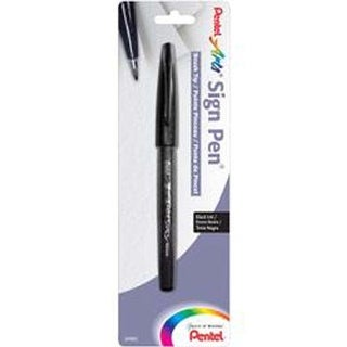 Black - Pentel Arts Sign Pen With Brush Tip