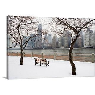 """USA, New York City, Manhattan in winter"" Canvas Wall Art"