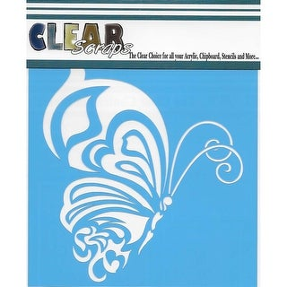 "Clear Scraps Stencils 12""X12""-Whimsical Butterfly"