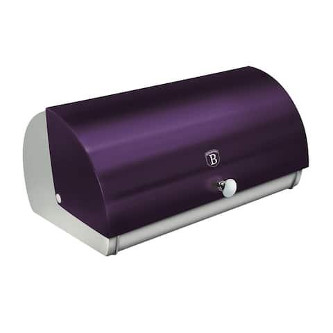 Berlinger Haus Bread Box w/ Metallic Door, Purple Collection