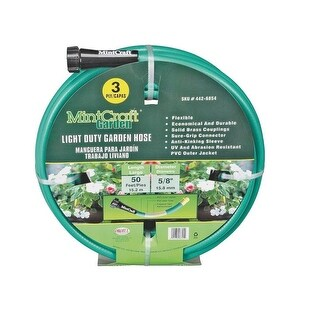 "Mintcraft GH-585023L Light Duty 3 Ply PVC Garden Hose, 5/8"" x 50'"