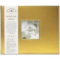 "Doodlebug Storybook Album 8""X8""-Gold Metallic"
