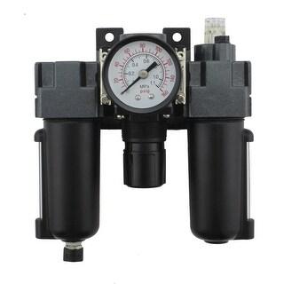 Milton EX25FRL40A-02M 0.25 in. NPT Mini Metal FRL Air Filter Regulator & Lubricator System