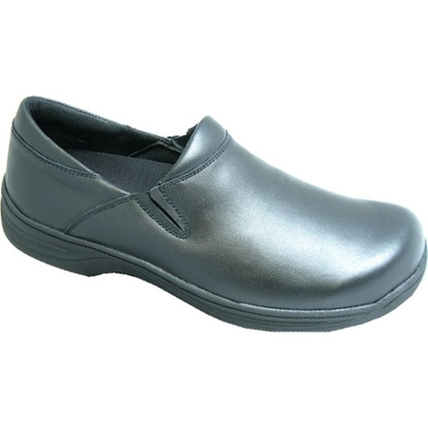 Shop Genuine Grip Footwear Women s Slip-Resistant Slip-On Work Shoes Black  Leather - Free Shipping Today - Overstock - 9083246 d96f6ab037