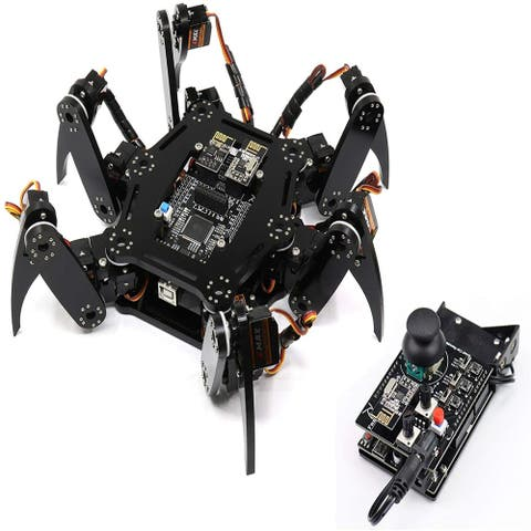 Robot Kit with Remote(Compatible with Arduino IDE Raspberry Pi OS),AppRemoteControl,Walking Crawling Twisting Servo STEM Project