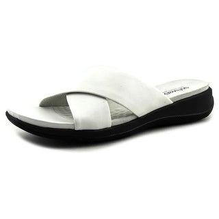 Softwalk Tillman N/S Open Toe Leather Slides Sandal