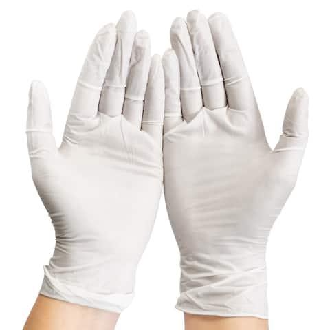 Disposable Vinyl Gloves Pack of 100 -Large - 12 Packs