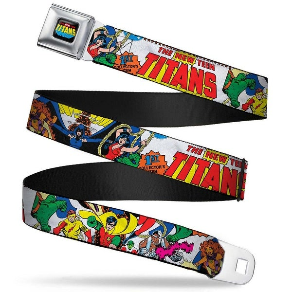 The New Teen Titans Logo Full Color Black Red Blue Yellow The New Teen Seatbelt Belt