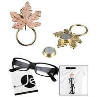 JAVOedge Pink Maple Leaf Style Magnetic Eyeglass Receptacle Holder