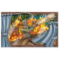 """Pack of 6 Killer Zombie Horror Insta-View Halloween Wall Decor 38"""" x 62"""" - Multi"""