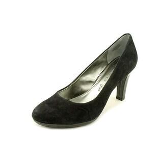 Anne Klein Clemence 3 Round Toe Suede Heels