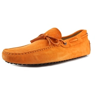 Tod's Laccetto OCCH. Men Moc Toe Suede Tan Boat Shoe