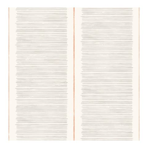 Layla Grey Stripe Wallpaper - 20.5 x 396 x 0.025