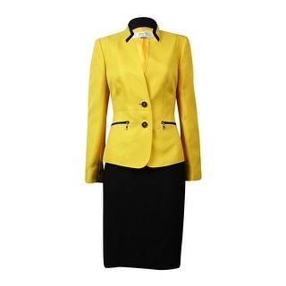 Shop Tahari Women S Montreal Muse Zip Pocket Woven Skirt Suit