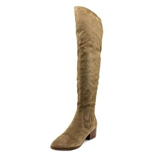Via Spiga Ophira Round Toe Suede Over the Knee Boot