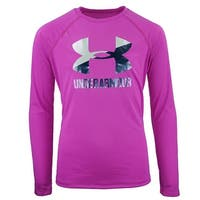 Under Armour Girls' UA Big Logo L/S T-Shirt