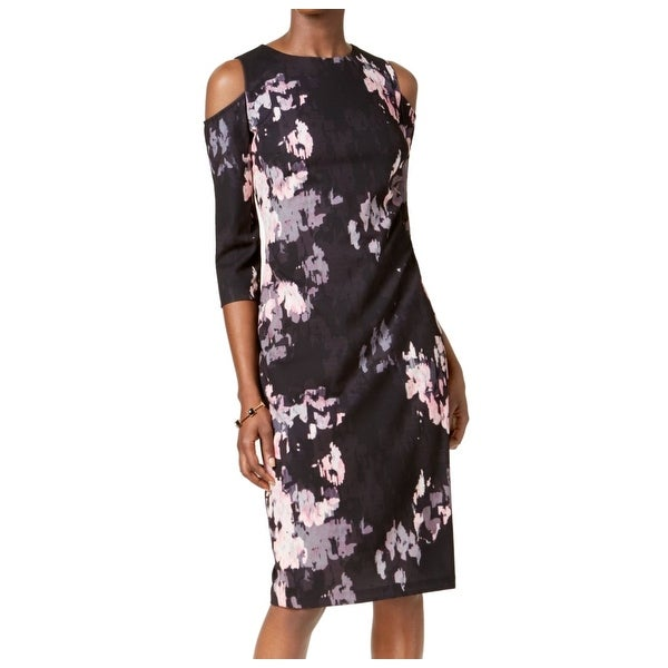 692f9146 Shop Jax Black Label Black Women 6 Floral Cold Shoulder Sheath Dress - Free  Shipping On Orders Over $45 - Overstock - 27186189