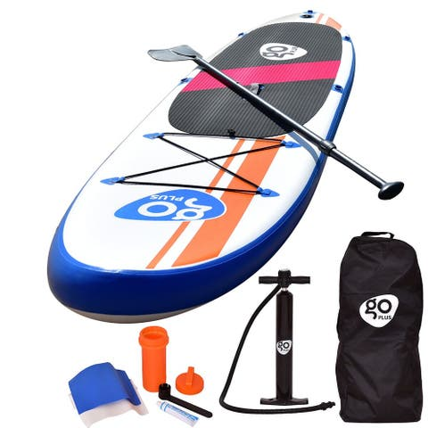 Goplus 10'Inflatable Stand Up Paddle Board SUP w/ Fin Adjustable