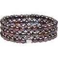 D'AMA Women's Pearl Bracelet - Easy-On Stretch Triple Strand cultured Pearl Bracelet - Thumbnail 9