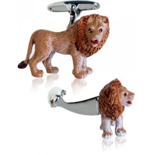 Painted Lion Cufflinks Animal