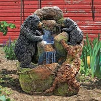 Design Toscano Grizzly Gulch Black Bears Sculptural Fountain