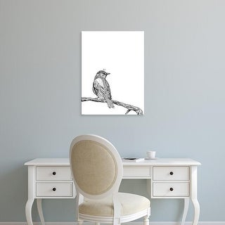 Easy Art Prints GraphINC's 'Bird III' Premium Canvas Art