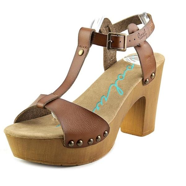 Coolway Colette Women Open Toe Leather Tan Platform Sandal