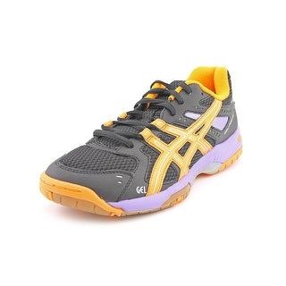 Asics Gel-Rocket 6 Women Round Toe Canvas Black Tennis Shoe