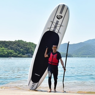 Goplus 11' Inflatable Stand Up Paddle Board SUP w/ Adjustable Paddle Travel Backpack