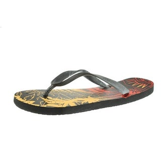 Maui and Sons Mens Graphic Slide Flip-Flops