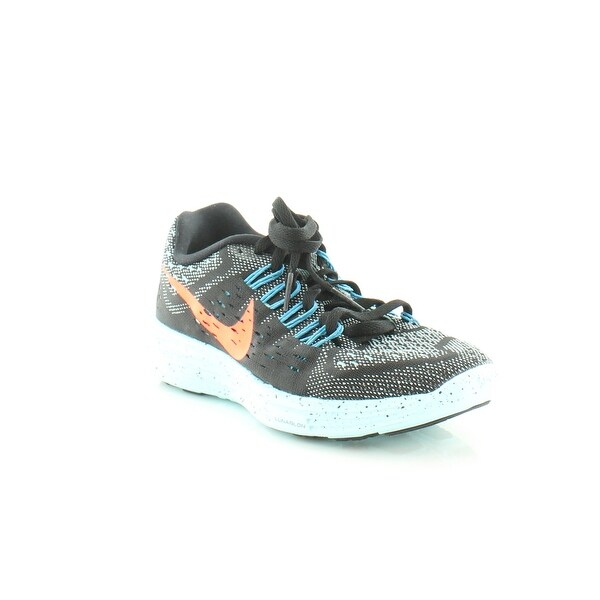Nike Lunar Glide +5 Women's Athletic Black/Hyper Orange-Copa Bl - 5