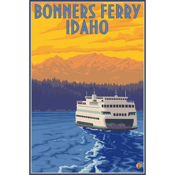 Shop Black Friday Deals On Bonners Ferry Idaho Ferry And Sunset Lantern Press Poster Art Print Multiple Sizes Available 9 X 12 Art Print Overstock 27938000